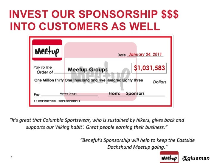INVEST OUR SPONSORSHIP $$$ INTO CUSTOMERS AS WELL @glusman