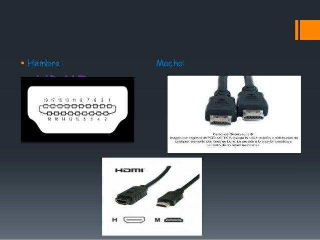  Hembra:   Macho:   HDMI