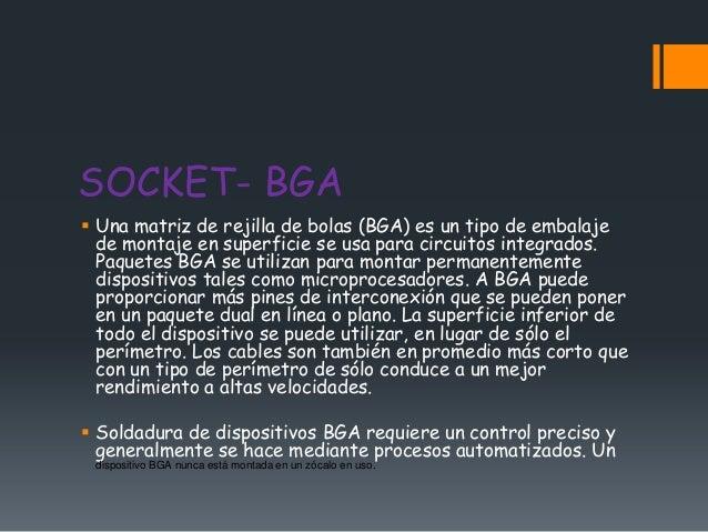 SOCKET- BGA Una matriz de rejilla de bolas (BGA) es un tipo de embalaje  de montaje en superficie se usa para circuitos i...
