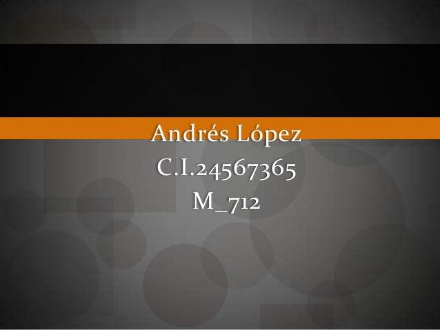 Andrés LópezC.I.24567365M_712