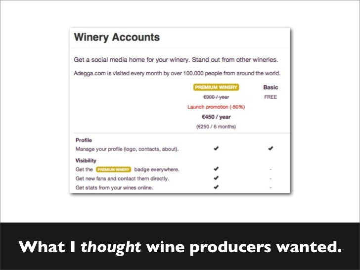 What I thought wine producers wanted.