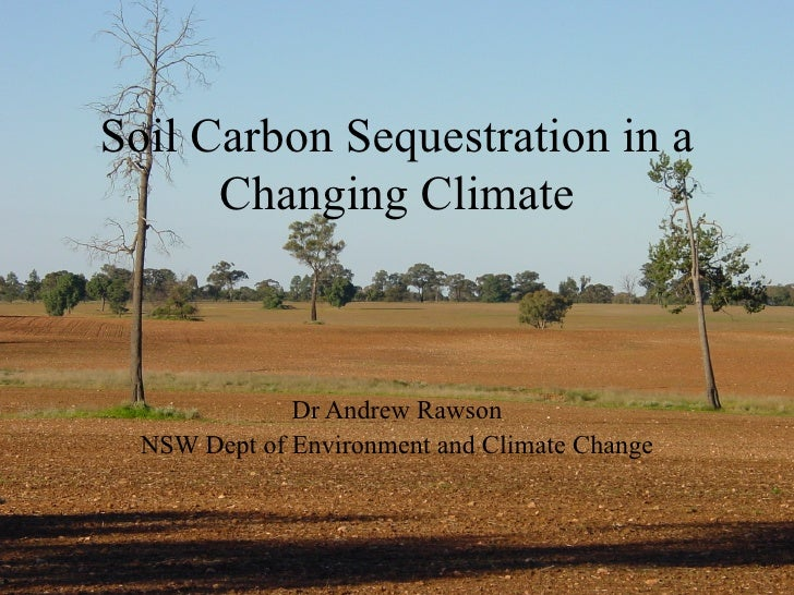 Soil Carbon Sequestration in a Changing Climate Dr Andrew Rawson NSW Dept of Environment and Climate Change