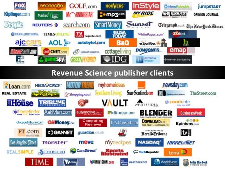 Revenue Science publisher clients
