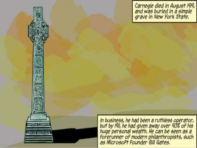 Successful Scots - Andrew Carnegie Comic Strip Part 2