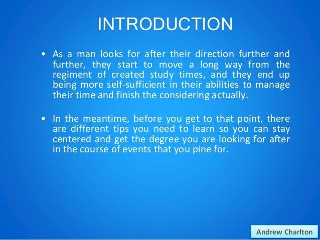 Andrew Charlton: Study Tips Slide 2