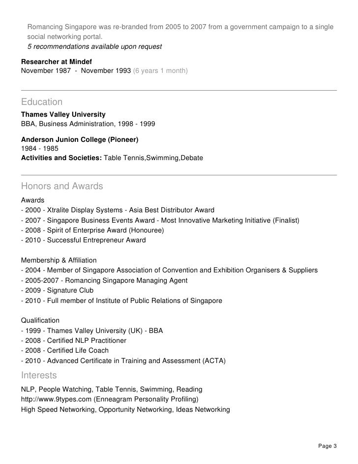 4 Recommendations Available Upon Request Page 2; 3.  Brand Strategist Resume
