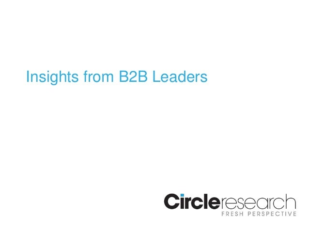 Insights from B2B Leaders