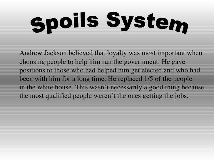 Spoils System Andrew Jackson Simple Andrew Jackson Design Decoration