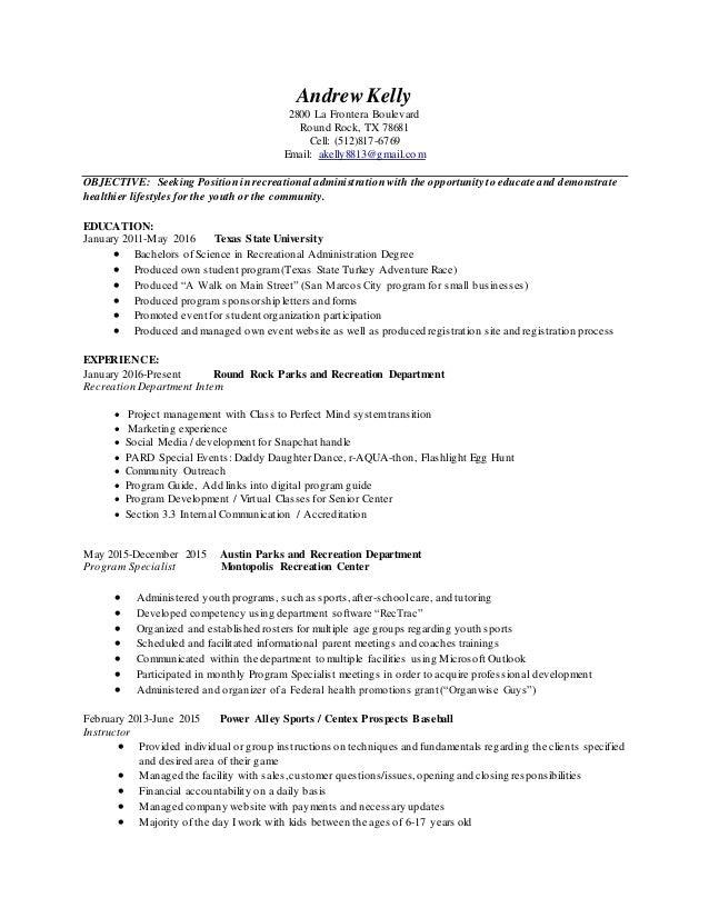 andrew kelly resume
