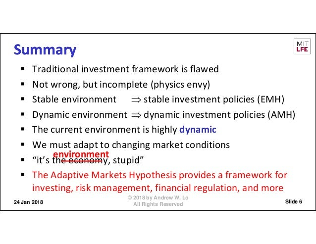 Andrew Lo on Adaptive Markets: Financial Evolution at the