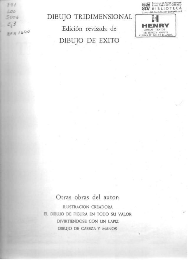 DIBUJO TKIDIMENSlONAL Edxdón rcvisada d:  DIBUJO DE Exlïo     OKÏBS obras del autor  uuïrucmfl cnunuu  z,  sumo u:  ncuu su...