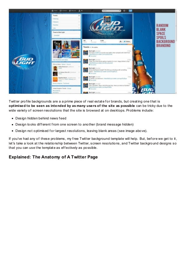 free twitter background template psd 2013 1920 x 1200 photoshop dow
