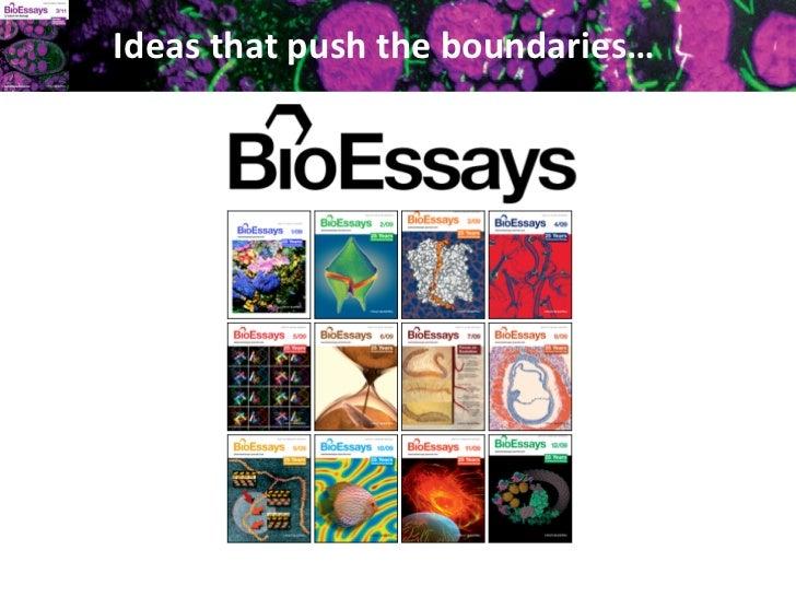 Ideas that push the boundaries…