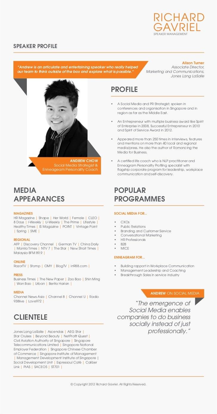Andrew Chow Speaker One Sheet - photo#6