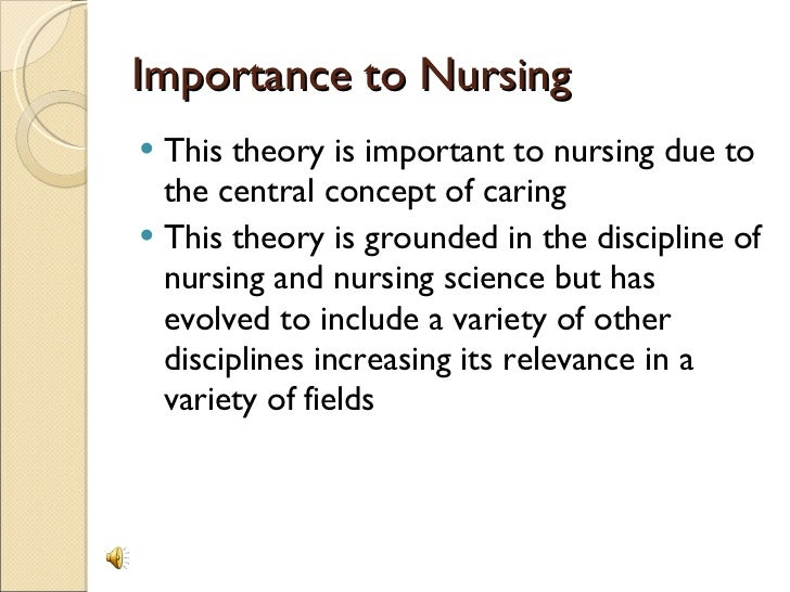 critique of jean watsons theory essay The theory of human caring, created by jean watson, was originally developed based on watson's experiences as both a teacher and in the nursing profession according to watson, the theory was created to explain those values of nursing that differ from the values of curative factors, those of doctors and specialists.