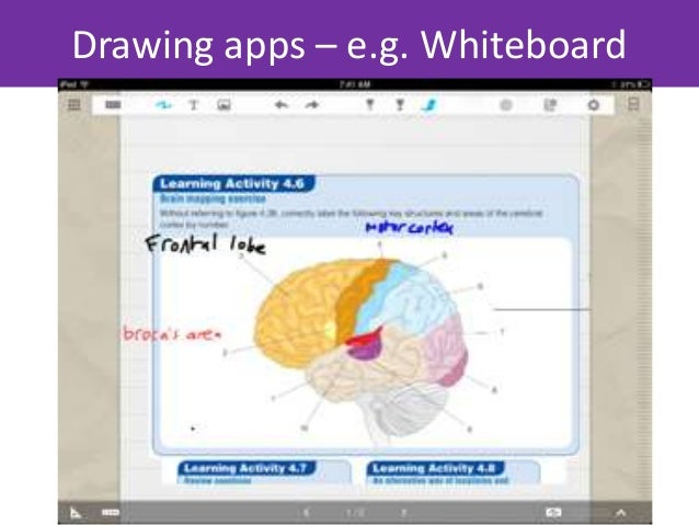 Or UpadAnnotate visual aspects of the course on a data projector  whilst the students label and annotated their images    ...