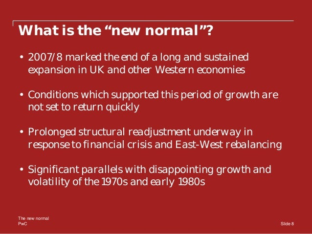 Andrew Sentence The New Normal For The Global Economy