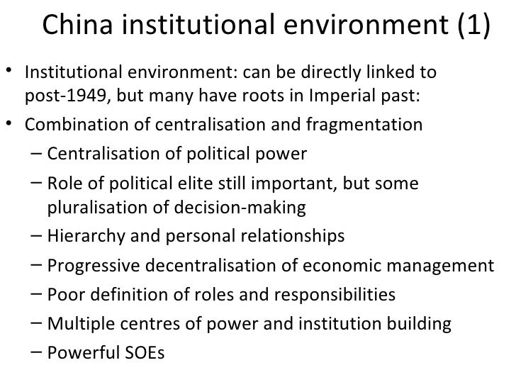 "the fragmented authoritarianism of the chinese Some knowledge of recent chinese history and politics is  fragmented authoritarianism 20: political pluralization in the chinese policy process"" the china."