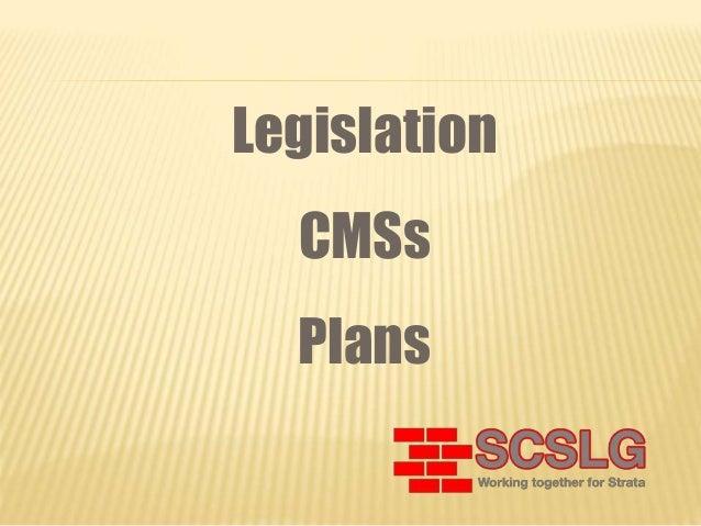 Legislation CMSs Plans