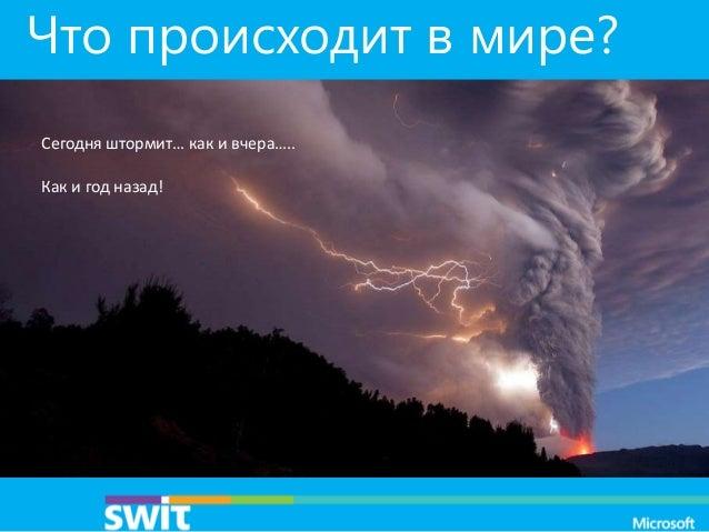 Что происходит в мире? Сегодня штормит… как и вчера….. Как и год назад!