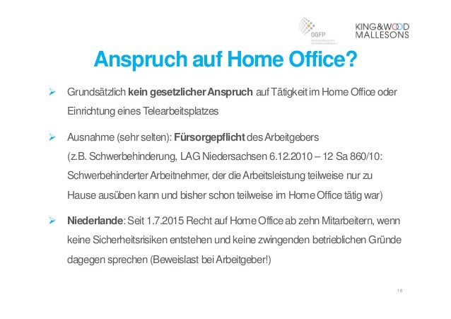 16 anspruch auf home office - Home Office Regelung Muster