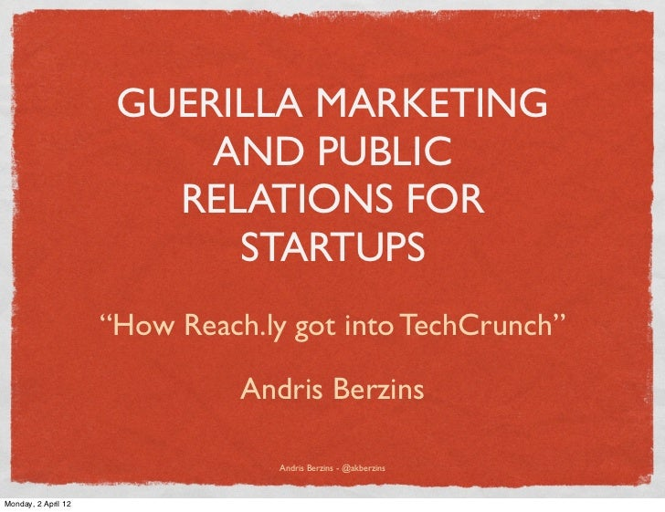GUERILLA MARKETING                          AND PUBLIC                        RELATIONS FOR                           STAR...