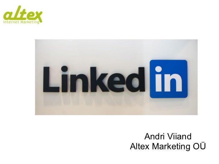 Andri Viiand Altex Marketing OÜ
