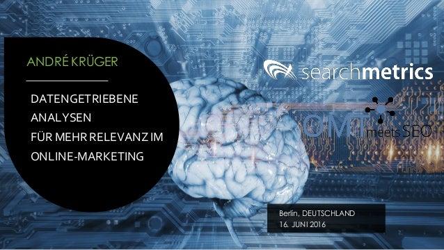 Datengetriebene Analysen Für Mehr Relevanz Im Online Marketing
