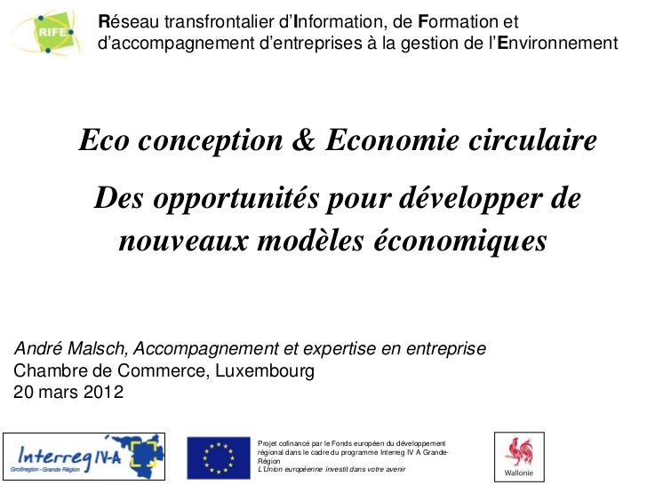 Réseau transfrontalier d'Information, de Formation et global environmental strategy & programs         d'accompagnement d'...