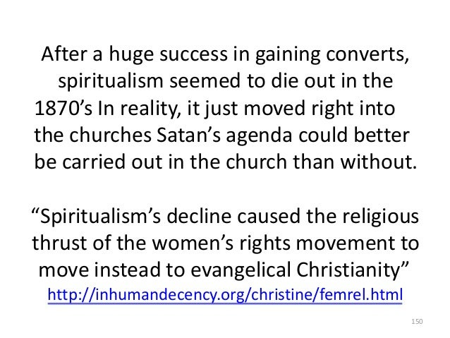 After a huge success in gaining converts, spiritualism seemed to die out in the 1870's In reality, it just moved right int...