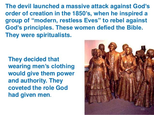 """The devil launched a massive attack against God""""s order of creation in the 1850""""s, when he inspired a group of """"modern, re..."""