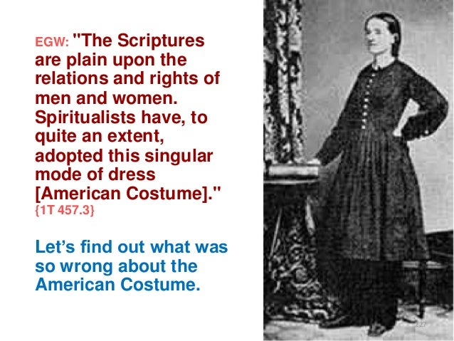 """EGW: """"The  Scriptures are plain upon the relations and rights of men and women. Spiritualists have, to quite an extent, ad..."""