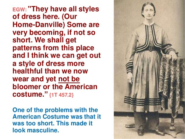 """EGW: """"They  have all styles of dress here. (Our Home-Danville) Some are very becoming, if not so short. We shall get patte..."""