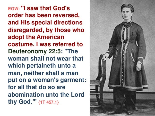 """EGW: """"I  saw that God's order has been reversed, and His special directions disregarded, by those who adopt the American c..."""