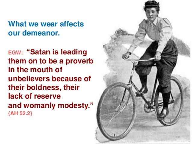"""What we wear affects our demeanor. """"Satan is leading them on to be a proverb in the mouth of unbelievers because of their ..."""