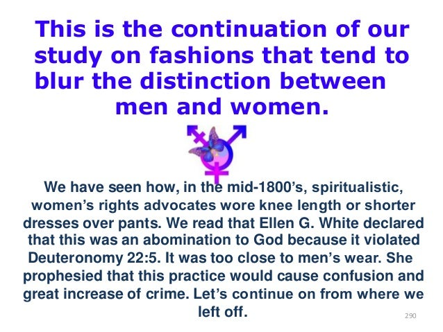This is the continuation of our study on fashions that tend to blur the distinction between men and women.  We have seen h...