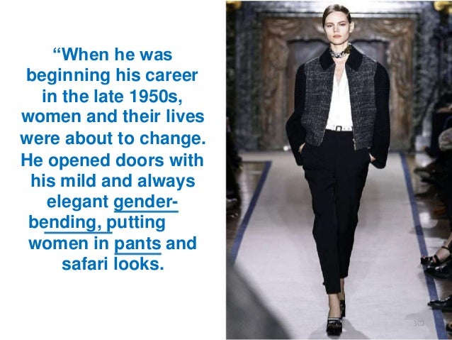 """""""When he was beginning his career in the late 1950s, women and their lives were about to change. He opened doors with his ..."""