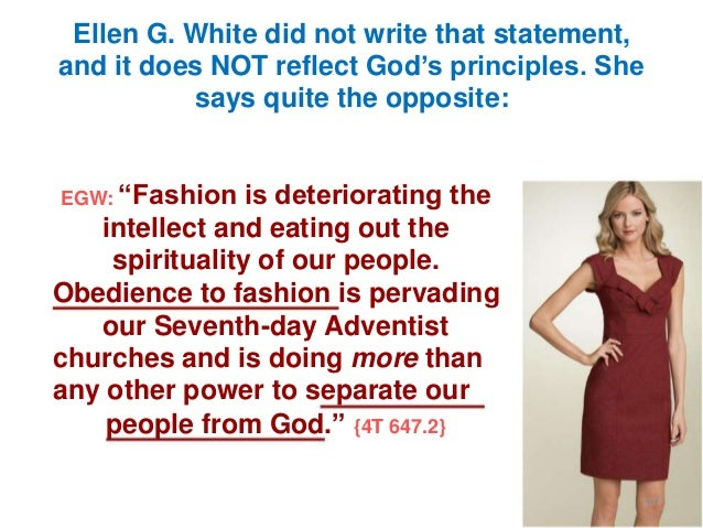 """Ellen G. White did not write that statement, and it does NOT reflect God""""s principles. She says quite the opposite: EGW: """"..."""