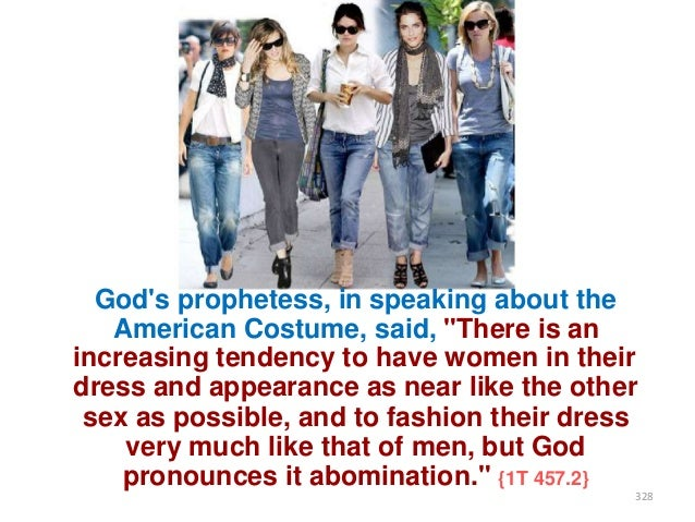 """God's prophetess, in speaking about the American Costume, said, """"There is an increasing tendency to have women in their dr..."""