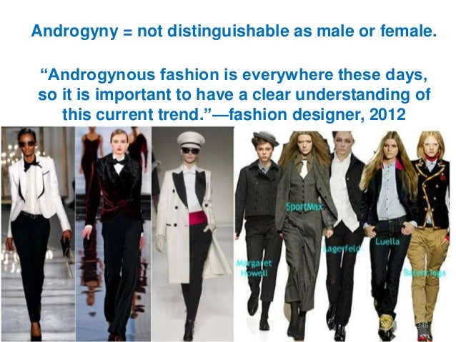 """Androgyny = not distinguishable as male or female. """"Androgynous fashion is everywhere these days, so it is important to ha..."""