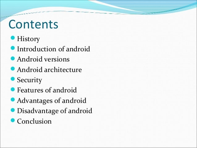 Android Operating System List