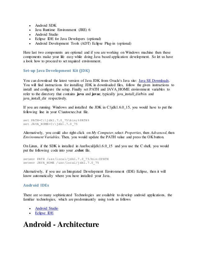 tools required to develop phonegap application for android