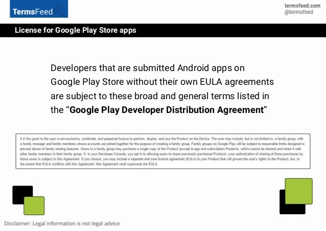 Eula For Android Apps