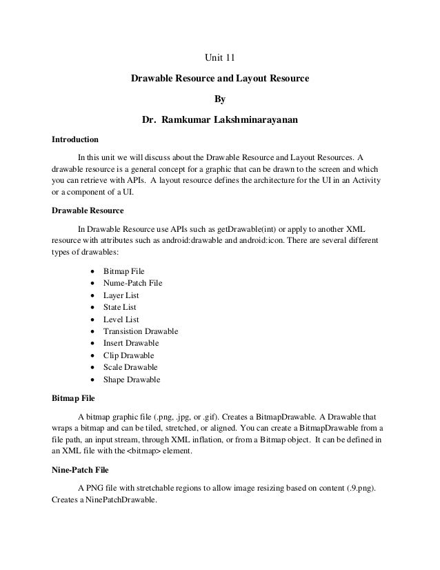 Android drawable resource and layout resource-chapter11
