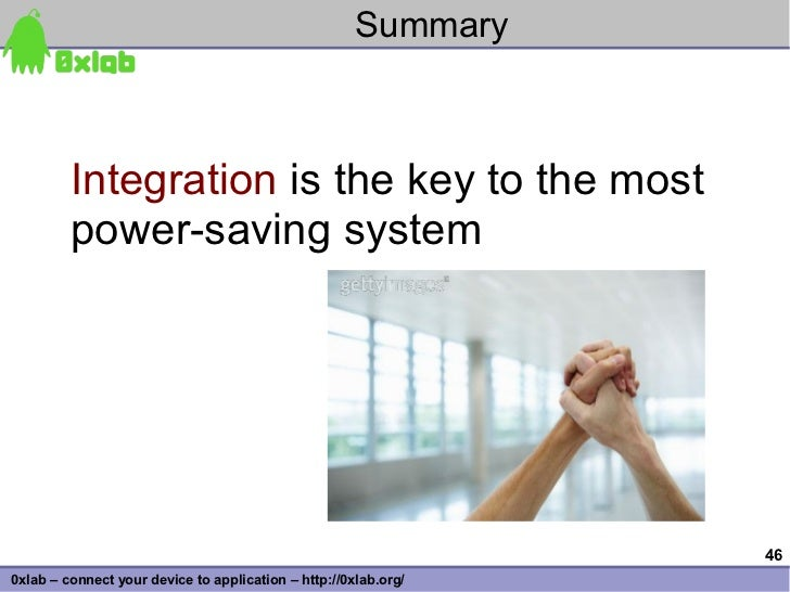 Summary             Integration is the key to the most          power-saving system                                       ...