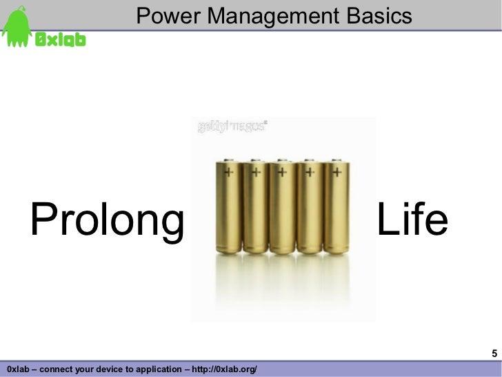 Power Management Basics          Prolong                                                     Life                         ...