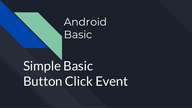Android simple basic-button click event