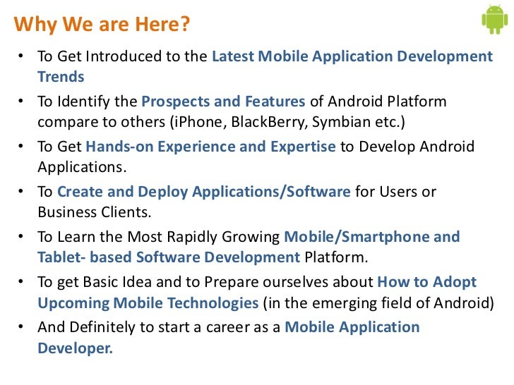 day introduction to mobile application development in android