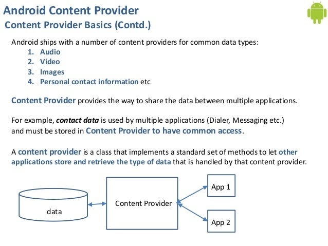 content provider in android pdf