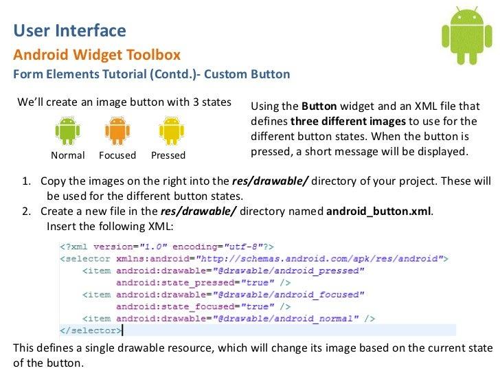 Android User Interface Tutorial: DatePicker, TimePicker